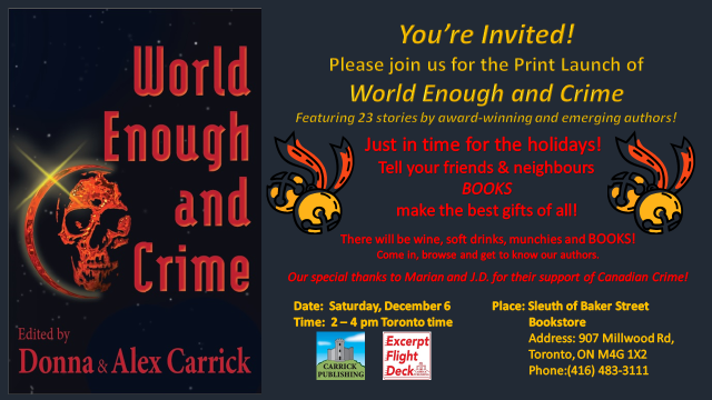 World Enough Print Launch Invitation