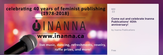 Inanna Publications 40th Celebration